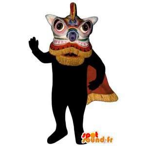 Chinese dragon mascot. Chinese dragon costume - MASFR006903 - Dragon mascot