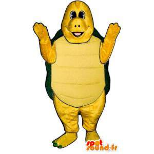 Mascot tartaruga verde e amarelo. Costume Turtle