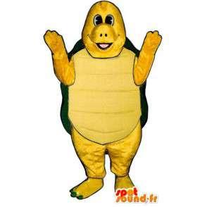 Mascotte gele en groene schildpad. Turtle Costume - MASFR006911 - Turtle Mascottes