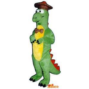 Maskottchen grüne und gelbe Dinosaurier Scottish - MASFR006912 - Maskottchen-Dinosaurier
