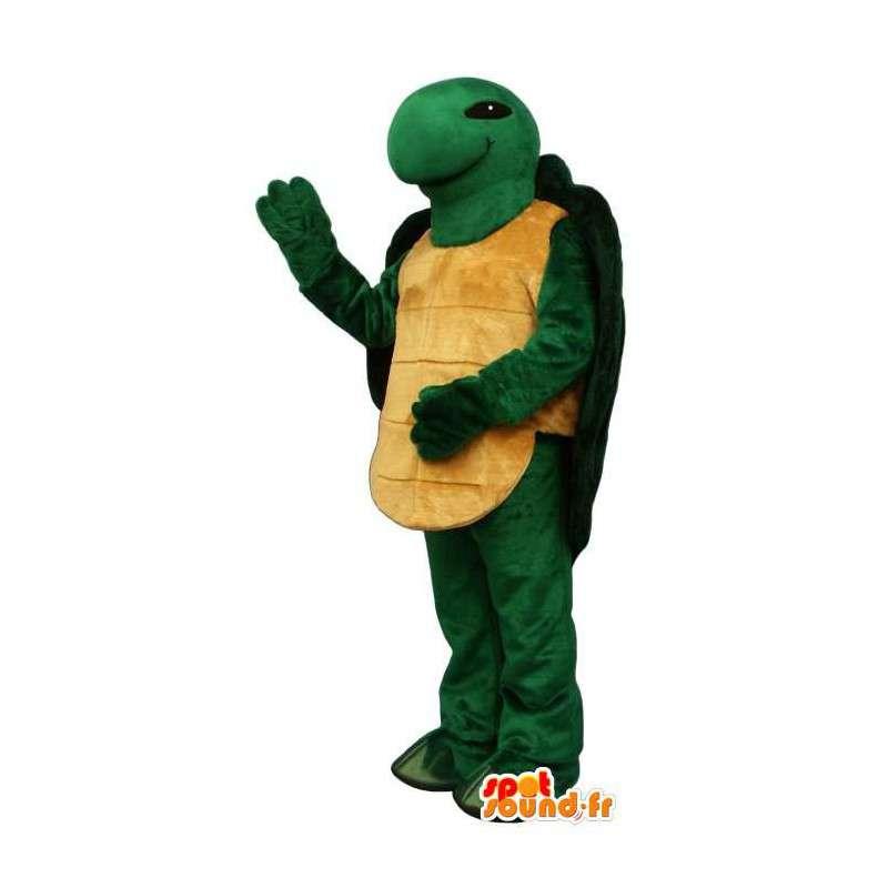 Groen en geel schildpad mascotte - Klantgericht Costume - MASFR006915 - Turtle Mascottes