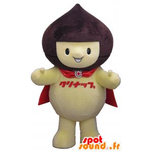 Mascote do urso, urso marrom lutador segurando - MASFR26339 - Yuru-Chara Mascotes japoneses