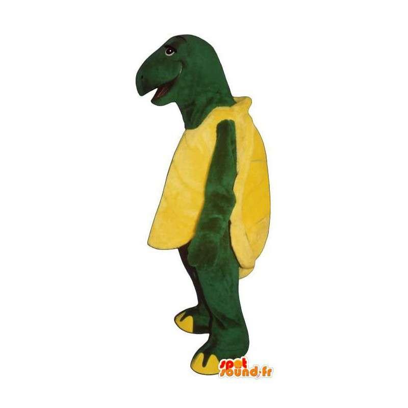 Mascot gele en groene schildpad, reuze - MASFR006919 - Turtle Mascottes
