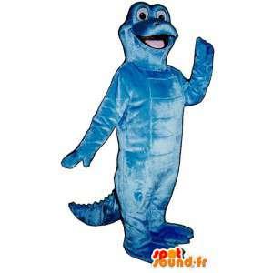 Blau Dinosaurier-Maskottchen.Blau Dinosaurier-Kostüm - MASFR006920 - Maskottchen-Dinosaurier