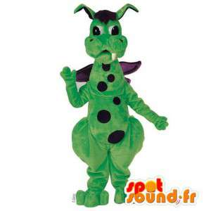 Grønn og lilla Dragon maskot erter - Tilpasses Costume - MASFR006923 - dragon maskot