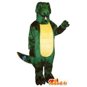 Grüne und gelbe Dinosaurier-Kostüm - MASFR006928 - Maskottchen-Dinosaurier