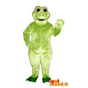 Green frog mascot, simple - MASFR006930 - Mascots frog