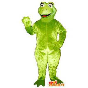 Green frog mascot, simple