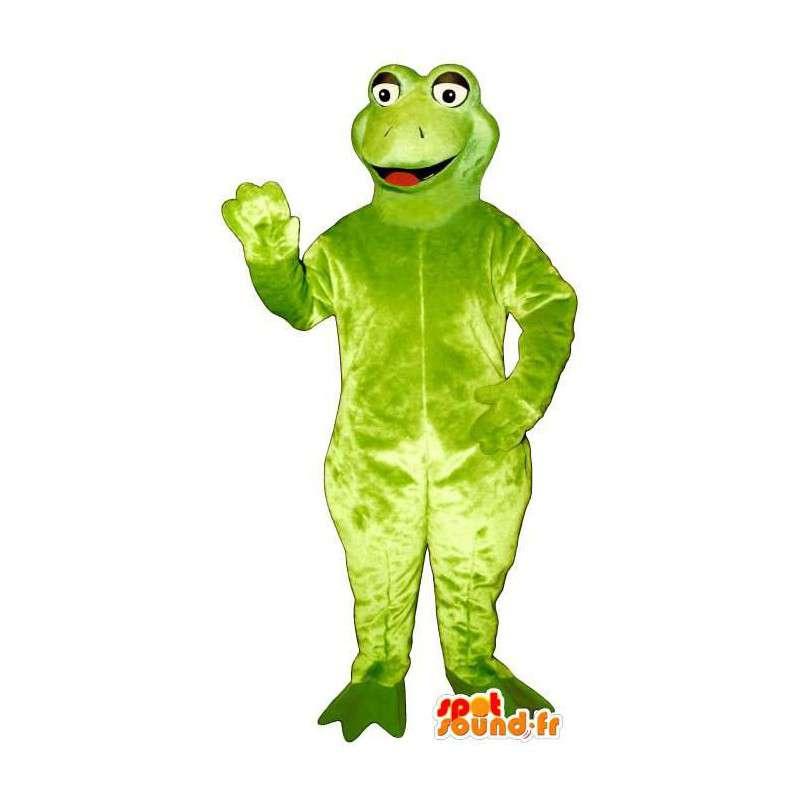 Green frog mascot, simple - MASFR006931 - Mascots frog