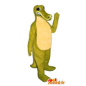Maskottchen Krokodil grün und gelb - Kostüm anpassbare
