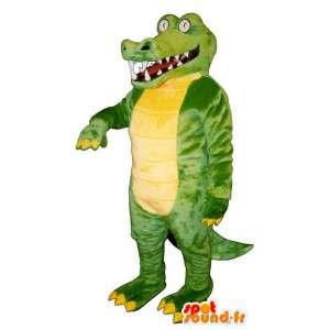 Mascot realistic crocodile