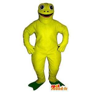 Fluorescent green frog mascot