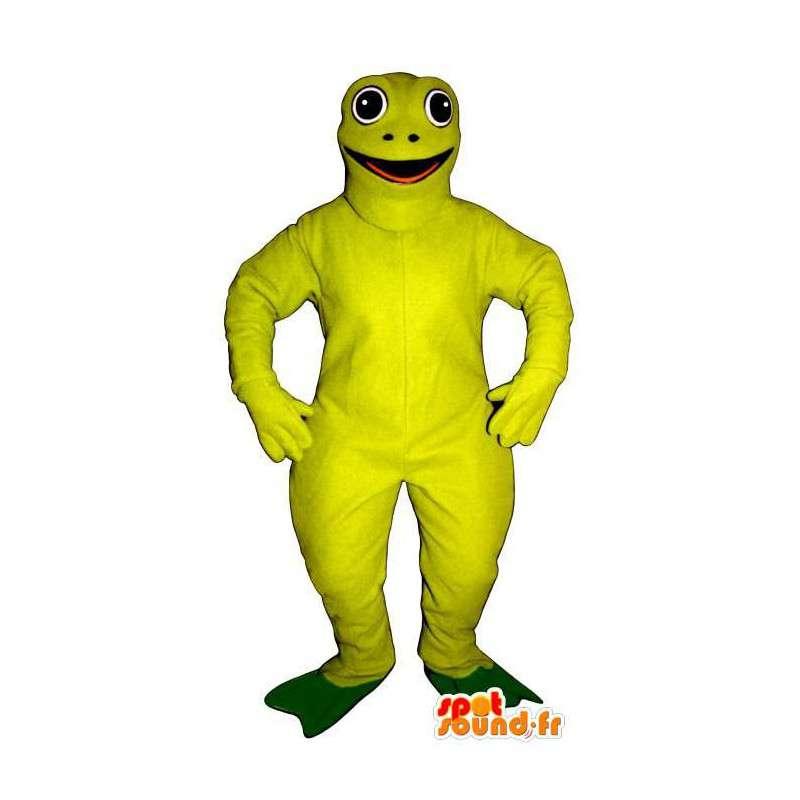 Fluorescent green frog mascot - MASFR006936 - Mascots frog