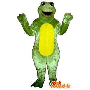 Déguisement de grenouille géante, verte et jaune