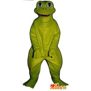 Maskotti hauska ja hymyilevä sammakko