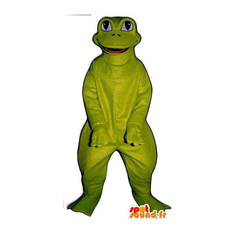 Rolig och le groda maskot - Spotsound maskot