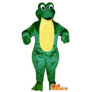 Mascot giant frog, green and yellow - MASFR006939 - Mascots frog