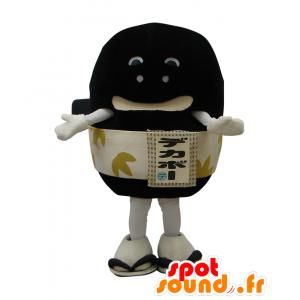 Dekabo mascotte, pietra vulcanica nera, con una cintura - MASFR26527 - Yuru-Chara mascotte giapponese