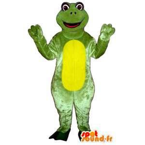 Costume de grenouille verte et jaune. Costume de grenouille