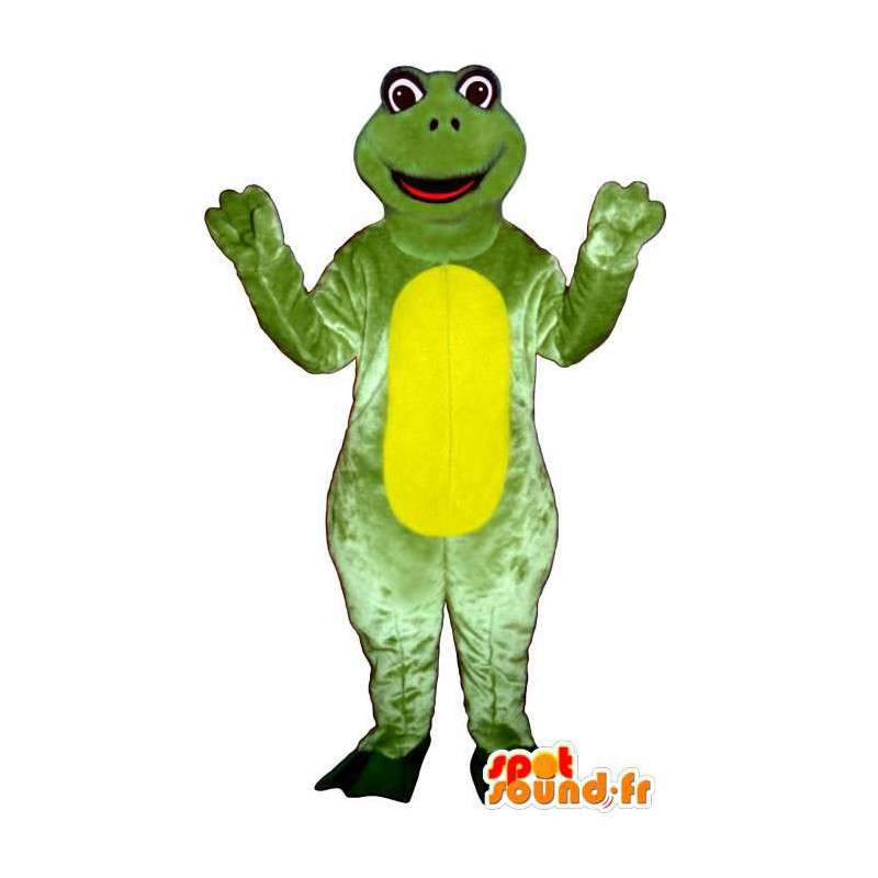 Costume green and yellow frog. Frog Costume - MASFR006940 - Mascots frog