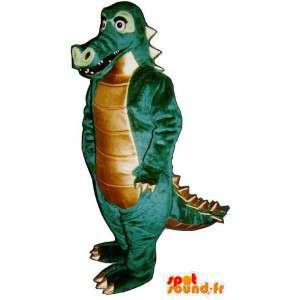 Mascot grün und braun Dinosaurier.Dinosaurier-Kostüm - MASFR006941 - Maskottchen-Dinosaurier
