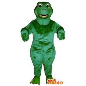 Green frog mascot, simple - MASFR006942 - Mascots frog