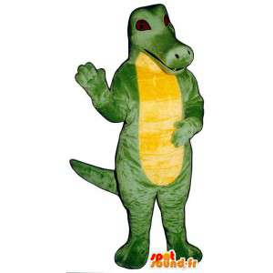 Green and yellow costume crocodile. Crocodile costume