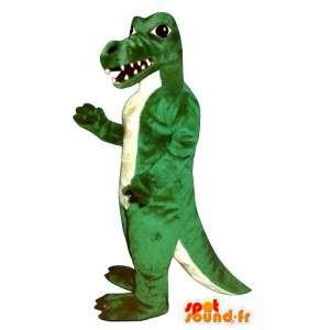 Crocodile mascot, green dinosaur