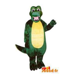 Vihreä ja keltainen krokotiili puku