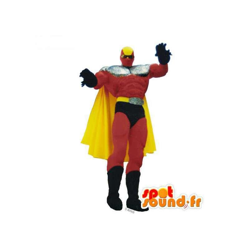 Mascot Superhero Red, yellow and black - MASFR006952 - Superhero mascot