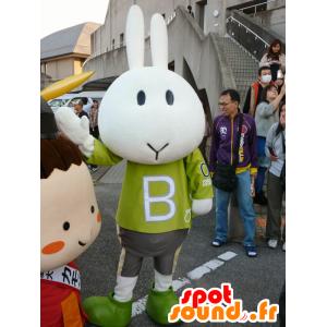 Mascot Banku, hvit kanin, Sport - MASFR26644 - Yuru-Chara japanske Mascots