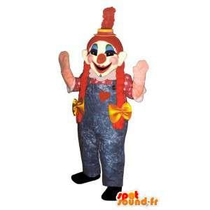 Kvinnlig clownmaskot. Flickans clowndräkt - Spotsound maskot