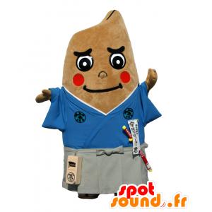 Folto mascotte Sota-kun, uomo marrone, vestito di samurai - MASFR26656 - Yuru-Chara mascotte giapponese