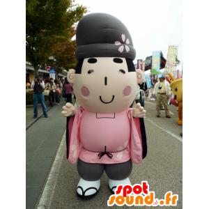 Michi Fu mascotte kun, uomo giapponese vestita di rosa - MASFR26682 - Yuru-Chara mascotte giapponese