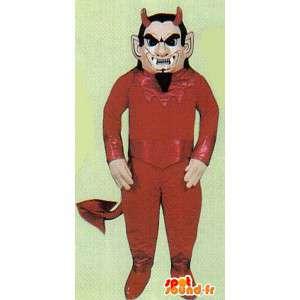 赤い悪魔の衣装。ハロウィンコスチューム-MASFR006964-行方不明の動物のマスコット