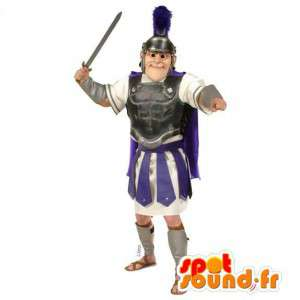 Mascot traditional gladiator. Period Costume