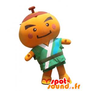 Mascotte Kakimaru kun, bonhommme arancione tutto - MASFR26825 - Yuru-Chara mascotte giapponese