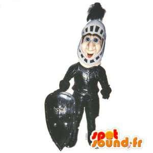 Ritter-Maskottchen.Zeitgenössische Kostüme