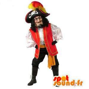 Mascotte de capitaine pirate très réaliste