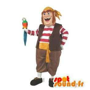 Kleurrijke piraat mascotte. schuim piraatkostuum - MASFR006983 - mascottes Pirates