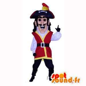 Pirate Captain kostým. Pirate Costume - MASFR006985 - maskoti Pirates