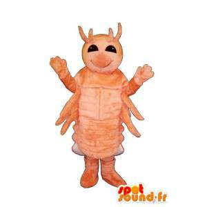 Mascot oranje insect, reuzegrootte - MASFR006987 - mascottes Insect