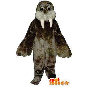 茶色のモールス信号のスーツ。アシカコスチューム
