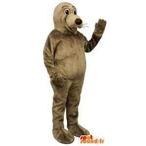 Mascot leão mar castanho. Costume Sea Lion