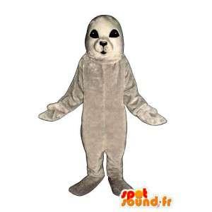 Vauva merileijona maskotti valkoinen. Hylkeenpoikasten Costume - MASFR006992 - maskotteja Seal