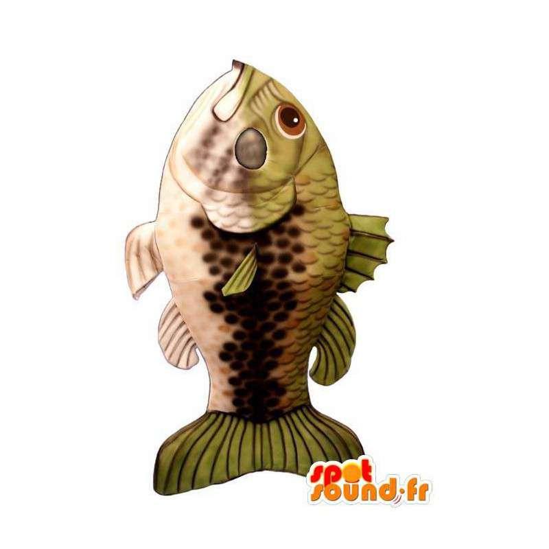 Muito Realista Mascote Peixe Gigante Em Mascotes Peixe
