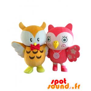 Mascotte Toshima Nanamaru e Yoshino, 2 gufi colorati - MASFR27085 - Yuru-Chara mascotte giapponese