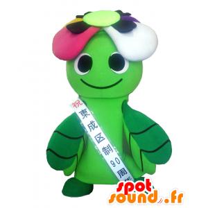 Frenzy maskot, grønne planter med farverige kronblade -