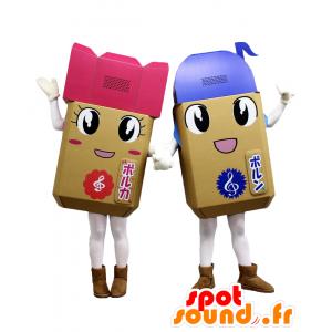 , 2 altoparlante di musica colorato mascotte Nato e Borca - MASFR27115 - Yuru-Chara mascotte giapponese
