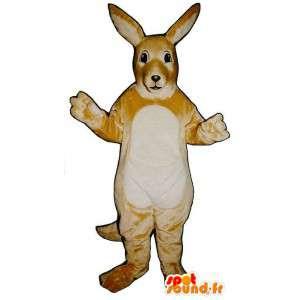 Mascotte de kangourou très réaliste. Costume de kangourou